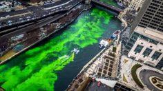 เทศกาล Saint Patrick's Day ย้อมแม่น้ำชิคาโกเป็นสีเขียว