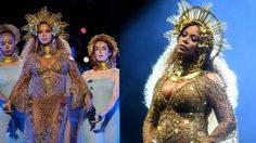 แม่ก็คือแม่! Beyonce อุ้มท้องโตขึ้นเวที Grammy Awards!!