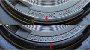 Canon เตือนระวังของปลอม เลนส์ EF 50mm f/1.8 II ที่ใช้กับกล้องดิจิตอล DSLR