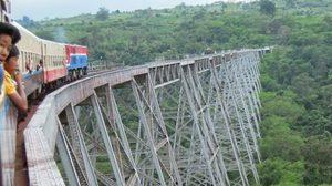 โกเต็ค เวียดัค เส้นทางรถไฟสุดเสียวของพม่า