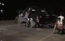สกัดจับรถฝ่าด่านตรวจก่อนชนเสาไฟเสียชีวิต 2 คน