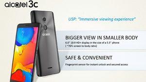 alcatel 3C รุ่นใหม่ หน้าจอใหญ่ 6 นิ้ว สองซิม ราคาแค่ 5 พัน