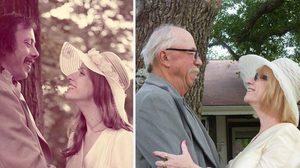 ถ่ายรูปย้อนเวลา!! ภาพฉลองงานแต่งงาน ครบรอบ 40 ปี แบบเก๋ๆ