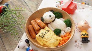 เมนูข้าวกับไข่ยัดไส้ Snoopy ไข่คุณหนู