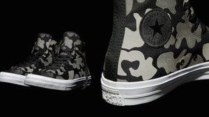 Chuck Taylor All Star II Reflective Camo แฟชั่นรองเท้าลายพรางสะท้อนแสง