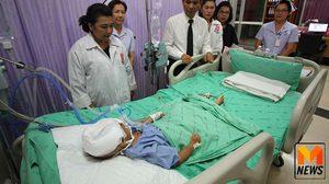เด็กหญิง 2 ขวบ ถูกหามส่งรพ. พบเลือดคั่งในสมอง พ่อแม่อ้างตกบันได