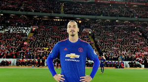LIVERPOOL, ENGLAND - OCTOBER 17:  (THE SUN OUT, THE SUN ON SUNDAY OUT) Zlatan Ibrahimovic of Manchester United during the Premier League match between Liverpool and Manchester United at Anfield on October 17, 2016 in Liverpool, England.  (Photo by Andrew Powell/Liverpool FC via Getty Images)