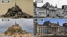 เจ๋งอะ ภาพถ่าย ความเปลี่ยนแปลงของสถานที่ ตามเวลา โลกเราไปไกลมาก