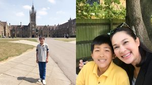 น้องแมค ลูกชายแม่แหม่ม คัทลียา กลับมาจากอังกฤษ ซัมเมอร์ 2 เดือน