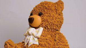 แต่งเค้กตุ๊กตาหมีน้อย มีขนนุ่มๆ เหมือนจริงมาก