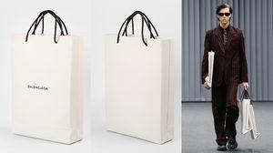 ฮือฮาอีกแล้ว Balenciaga อัพเกรด ถุงกระดาษ เป็นกระเป๋าแบรนด์เนมสุดหรู !!