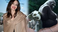 แองเจลินา โจลี พากย์เสียงช้าง สเตลลา ในภาพยนตร์ฉบับคนแสดง The One and Only Ivan