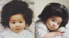 เอ็นดู! หนูน้อยญี่ปุ่นหน้าตาจิ้มลิ้ม วัยเพียง 6 เดือน แต่มีผมที่หนามาก