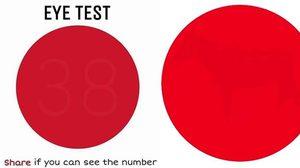 คุณเห็นอะไรในจุดแดง ? มาลอง เช็คสายตา ว่าคุณเห็นในจุดสีแดงเป็นเลขอะไร!