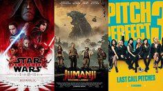 The Last Jedi หนังอันดับที่หนึ่งบนบ็อกซ์ออฟฟิศสหรัฐฯ ในสุดสัปดาห์สุดท้ายปี 2017