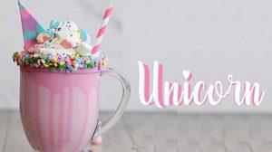 เมนูสุดฟริ้ง Milkshake Unicorn เอาใจสายเเบ๊ว