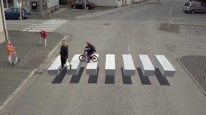 ทางม้าลาย 3 มิติ ไอเดียเจ๋งจากไอซ์แลนด์หวังเป็นการช่วยลดอุบัติเหตุ