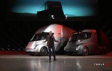 """""""เทสลา"""" เปิดตัวรถบรรทุกไฟฟ้า """"Tesla Semi"""""""