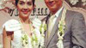 รวมช็อตเด็ดภาพบรรยากาศสุดหวาน ในงานแต่งงาน วุ้นเส้น-ชาคริต