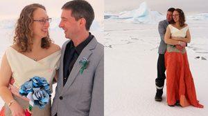 คู่รักอังกฤษ ทำสถิติใหม่จัดงานแต่งงาน ท่ามกลางอากาศหนาวที่สุดในโลก