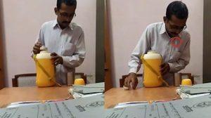 โกรธกันมาแต่ปางไหน!! หนุ่มอินเดียโดนแอบถ่าย หลังบ้วน น้ำลาย ลงในแก้วน้ำของเจ้านาย