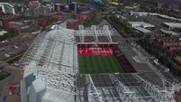 Manchester United Old Trafford Stadium and Nearby Aerial View [4K].mp4