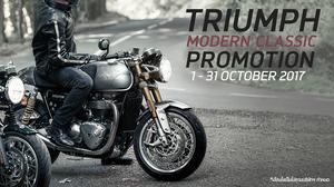 Triumph Motorcycles ส่งโปรฯ แรงต่อเนื่องเอาใจสาวกทุกรุ่น