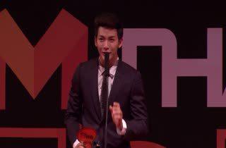 ดีเจพุฒิ - พุฒิชัย เกษตรสิน จากซีรีส์ รักนะเป็ดโง่ รางวัล Top Talk About Actor
