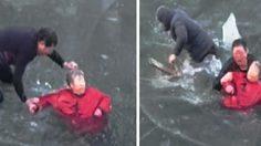 ทั่วโลกกดไลค์! หนุ่มจีนใช้มือทุบน้ำแข็ง ช่วยอาม่าตกทะเลสาบเย็นยะเยือก