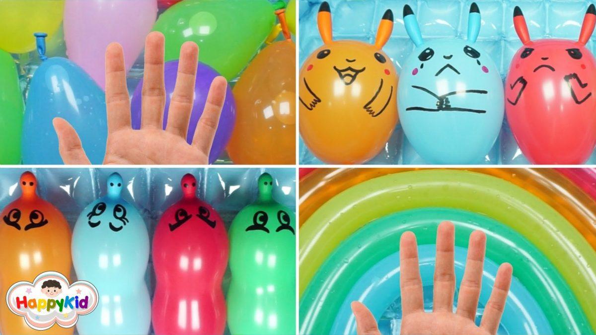 รวมเพลง Finger Family 1-4 | เจาะลูกโป่ง | เรียนรู้ภาษาอังกฤษ | Balloon Finger Family 13 minutes