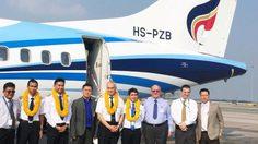 บางกอกแอร์เวย์ส ต้อนรับเครื่องบิน ATR72- 600 ลำใหม่ล่าสุด