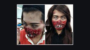 แต่งหน้าฮาโลวีน ซอมบี้ ผีฟันเหยิน - Halloween Makeup