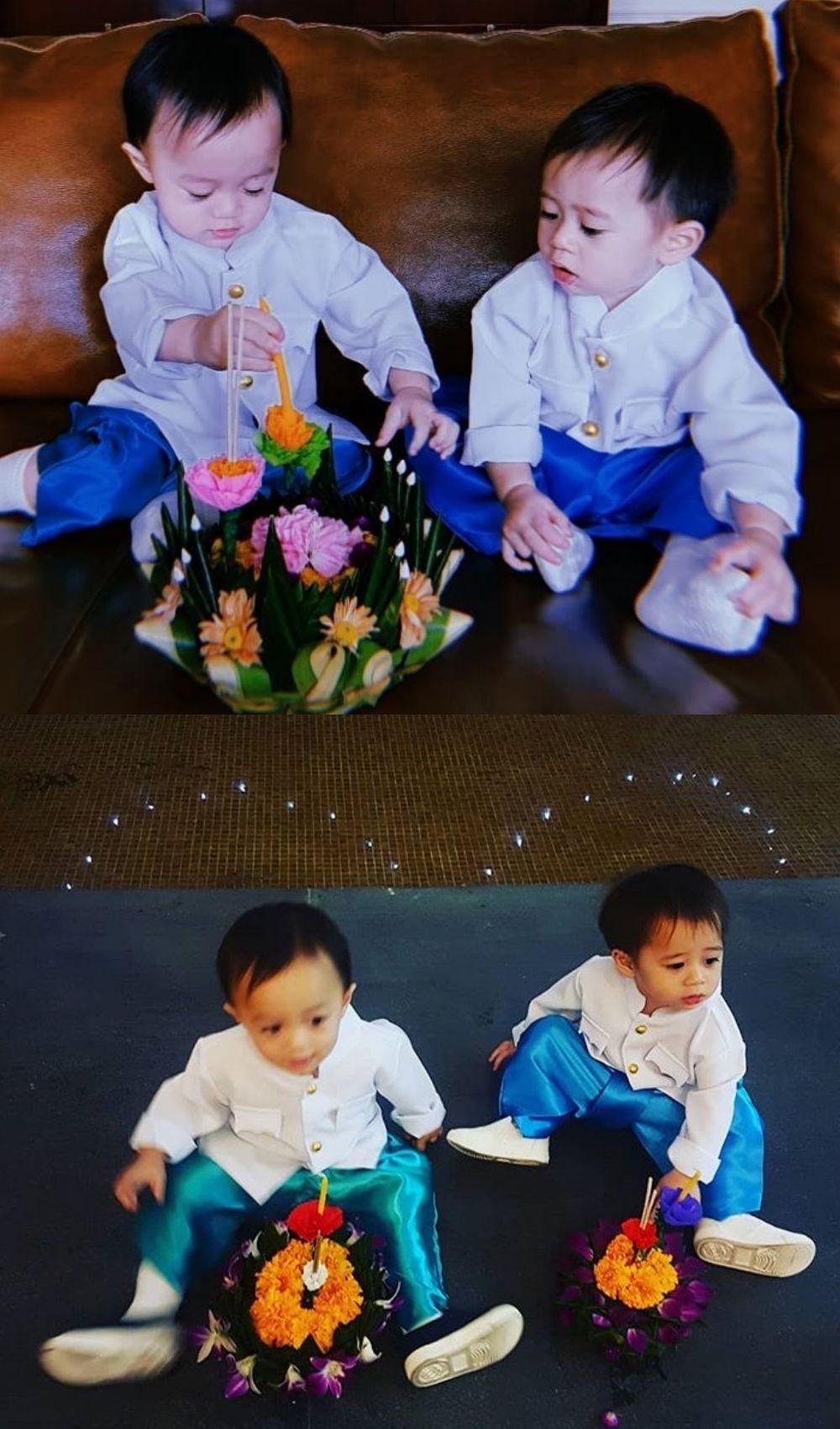 สายฟ้า-พายุ ลูกชายฝาแฝด ชมพู่-น็อต
