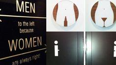 ป้ายหน้าห้องน้ำสุดล้ำ ใครว่าต้องใช้รูปสัญลักษณ์เดิมๆ เสมอไป