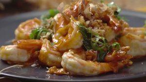 สูตร กุ้งผัดซอสพริก อร่อยนัวจนต้องเบิ้ลเป็นสองจาน