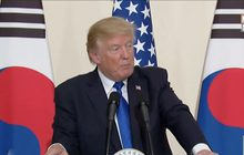 """""""ทรัมป์"""" เผยพร้อมปกป้องพันธมิตรขณะเยือนเกาหลีใต้"""