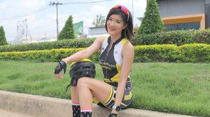 ยู้ ทิพย์วลี สาวนักปั่นหุ่นดี ที่หลงใหลในเสน่ห์ของการปั่นจักรยานเป็นที่สุด
