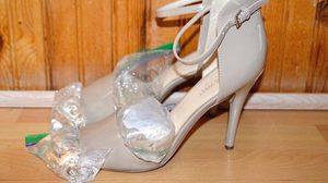 Howto วิธี ขยายรองเท้าส้นสูง ที่คับเท้า ให้ใส่สบายขึ้นด้วยน้ำแข็ง..รู้งี้ทำไปนานแล้ว