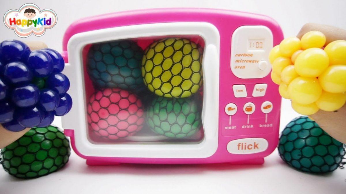 สไลม์บอลบีบแล้วเปลียนสีในไมโครเวฟ | เรียนรู้สีภาษาอังกฤษ | Learn Color With Slime Ball
