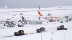 สั่งปิด! สนามบินเจนีวา หลังหิมะตกหนัก