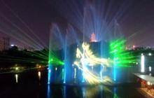 การแสดงม่านน้ำประกอบแสงสีเสียงในจีน