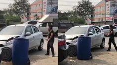 ตำรวจแจ้งข้อหา หนุ่มเลือดร้อน ฉุนรถโดนชน คว้าท่อนเหล็กฟาดรถคู่กรณีไม่ยั้ง