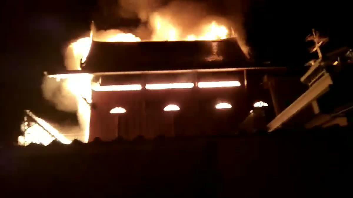 เพลิงไหม้บ้านเรือนประชาชน ซอยด่านสำโรง23/1 จ.สมุทรปราการ (19-10-2017)