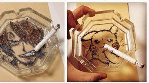 สุดยอด งานศิลปะการ์ตูนอนิเมะ จากขี้เถ้าบุหรี่