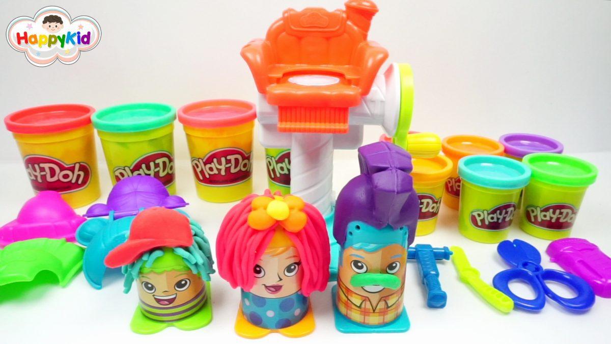 เล่นแป้งโดว์ร้านทำผม | เพลย์โดว์ร้านตัดผม | Play-Doh Crazy Cuts Playset