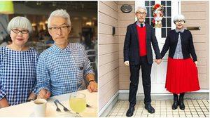 ไม่ต้องง้อเสื้อคู่รัก!! คู่รักญี่ปุ่น แต่งงานกันมา 37 ปี แต่งตัวธีมเดียวกัน น่ารักสุดๆ