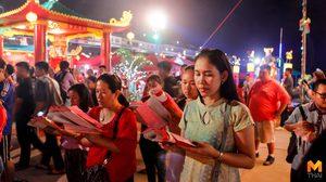 คึกคัก! งานตรุษจีนปากน้ำโพวันแรก คนแห่ทำบุญแก้ปีชงเสริมสิริมงคล