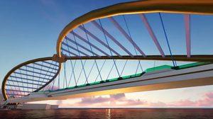 เปิดแบบสะพานคนเดินข้ามแม่น้ำเจ้าพระยา มีทั้งบันไดเลื่อน-ลิฟต์-รถกอล์ฟ ให้บริการ