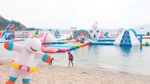 'Inflatable Island'สวนน้ำยูนิคอร์น สีพาสเทลสดใส ที่ฟิลิปปินส์
