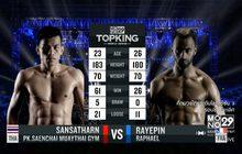 คู่ที่ 3 Super Fight แสนสะท้าน พี.เค.แสนชัยมวยไทยยิม VS เรย์แปง ราฟาเอล